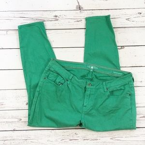 Lucky Brand ginger skinny jeans green size 18W